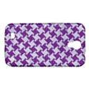 HOUNDSTOOTH2 WHITE MARBLE & PURPLE DENIM Samsung Galaxy Mega 6.3  I9200 Hardshell Case View1