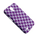HOUNDSTOOTH2 WHITE MARBLE & PURPLE DENIM Samsung Galaxy Mega 6.3  I9200 Hardshell Case View5