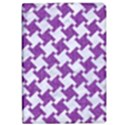 HOUNDSTOOTH2 WHITE MARBLE & PURPLE DENIM iPad Air Flip View1