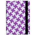 HOUNDSTOOTH2 WHITE MARBLE & PURPLE DENIM iPad Air Flip View2