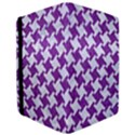 HOUNDSTOOTH2 WHITE MARBLE & PURPLE DENIM iPad Air Flip View3