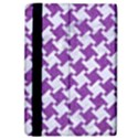 HOUNDSTOOTH2 WHITE MARBLE & PURPLE DENIM iPad Air Flip View4