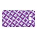 HOUNDSTOOTH2 WHITE MARBLE & PURPLE DENIM Samsung Galaxy A5 Hardshell Case  View1