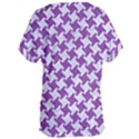 HOUNDSTOOTH2 WHITE MARBLE & PURPLE DENIM Women s Oversized Tee View2