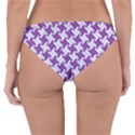 HOUNDSTOOTH2 WHITE MARBLE & PURPLE DENIM Reversible Hipster Bikini Bottoms View2