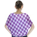 HOUNDSTOOTH2 WHITE MARBLE & PURPLE DENIM Blouse View2
