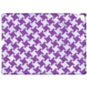 HOUNDSTOOTH2 WHITE MARBLE & PURPLE DENIM Apple iPad Pro 12.9   Hardshell Case View1