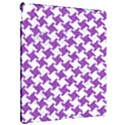 HOUNDSTOOTH2 WHITE MARBLE & PURPLE DENIM Apple iPad Pro 12.9   Hardshell Case View2
