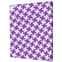 HOUNDSTOOTH2 WHITE MARBLE & PURPLE DENIM Apple iPad Pro 12.9   Hardshell Case View3