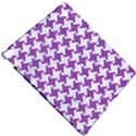 HOUNDSTOOTH2 WHITE MARBLE & PURPLE DENIM Apple iPad Pro 12.9   Hardshell Case View4