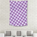 HOUNDSTOOTH2 WHITE MARBLE & PURPLE DENIM Small Tapestry View2