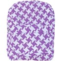 HOUNDSTOOTH2 WHITE MARBLE & PURPLE DENIM Full Print Backpack View1