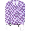 HOUNDSTOOTH2 WHITE MARBLE & PURPLE DENIM Full Print Backpack View2