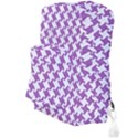 HOUNDSTOOTH2 WHITE MARBLE & PURPLE DENIM Full Print Backpack View3