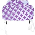 HOUNDSTOOTH2 WHITE MARBLE & PURPLE DENIM Full Print Backpack View4