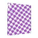 HOUNDSTOOTH2 WHITE MARBLE & PURPLE DENIM Apple iPad Pro 10.5   Hardshell Case View2