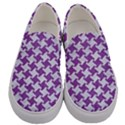 HOUNDSTOOTH2 WHITE MARBLE & PURPLE DENIM Men s Canvas Slip Ons View1
