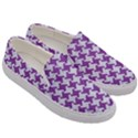 HOUNDSTOOTH2 WHITE MARBLE & PURPLE DENIM Men s Canvas Slip Ons View3