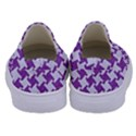 HOUNDSTOOTH2 WHITE MARBLE & PURPLE DENIM Kids  Canvas Slip Ons View4