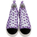 HOUNDSTOOTH2 WHITE MARBLE & PURPLE DENIM Men s Mid-Top Canvas Sneakers View1