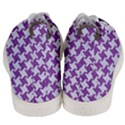 HOUNDSTOOTH2 WHITE MARBLE & PURPLE DENIM Men s Mid-Top Canvas Sneakers View4