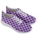 HOUNDSTOOTH2 WHITE MARBLE & PURPLE DENIM Men s Lightweight Sports Shoes View3
