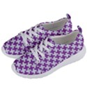 HOUNDSTOOTH2 WHITE MARBLE & PURPLE DENIM Women s Lightweight Sports Shoes View2
