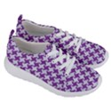HOUNDSTOOTH2 WHITE MARBLE & PURPLE DENIM Women s Lightweight Sports Shoes View3