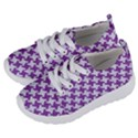 HOUNDSTOOTH2 WHITE MARBLE & PURPLE DENIM Kids  Lightweight Sports Shoes View2