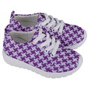 HOUNDSTOOTH2 WHITE MARBLE & PURPLE DENIM Kids  Lightweight Sports Shoes View3