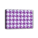 HOUNDSTOOTH1 WHITE MARBLE & PURPLE DENIM Mini Canvas 6  x 4  View1