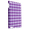 HOUNDSTOOTH1 WHITE MARBLE & PURPLE DENIM Apple iPad 3/4 Hardshell Case View2