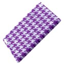 HOUNDSTOOTH1 WHITE MARBLE & PURPLE DENIM Apple iPad 3/4 Hardshell Case View4