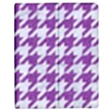 HOUNDSTOOTH1 WHITE MARBLE & PURPLE DENIM Apple iPad 2 Flip Case View1