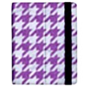 HOUNDSTOOTH1 WHITE MARBLE & PURPLE DENIM Apple iPad 2 Flip Case View2