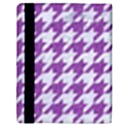 HOUNDSTOOTH1 WHITE MARBLE & PURPLE DENIM Apple iPad 2 Flip Case View3