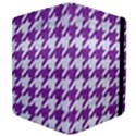 HOUNDSTOOTH1 WHITE MARBLE & PURPLE DENIM Apple iPad 2 Flip Case View4