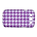 HOUNDSTOOTH1 WHITE MARBLE & PURPLE DENIM Samsung Galaxy S III Classic Hardshell Case (PC+Silicone) View1