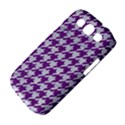 HOUNDSTOOTH1 WHITE MARBLE & PURPLE DENIM Samsung Galaxy S III Classic Hardshell Case (PC+Silicone) View4