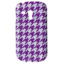 HOUNDSTOOTH1 WHITE MARBLE & PURPLE DENIM Galaxy S3 Mini View3