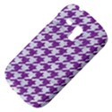 HOUNDSTOOTH1 WHITE MARBLE & PURPLE DENIM Galaxy S3 Mini View4
