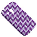 HOUNDSTOOTH1 WHITE MARBLE & PURPLE DENIM Galaxy S3 Mini View5