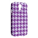 HOUNDSTOOTH1 WHITE MARBLE & PURPLE DENIM Samsung Galaxy S4 I9500/I9505 Hardshell Case View2