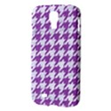 HOUNDSTOOTH1 WHITE MARBLE & PURPLE DENIM Samsung Galaxy S4 I9500/I9505 Hardshell Case View3