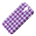 HOUNDSTOOTH1 WHITE MARBLE & PURPLE DENIM Samsung Galaxy S4 I9500/I9505 Hardshell Case View4