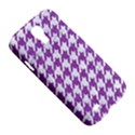 HOUNDSTOOTH1 WHITE MARBLE & PURPLE DENIM Samsung Galaxy S4 I9500/I9505 Hardshell Case View5