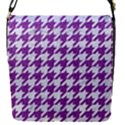 HOUNDSTOOTH1 WHITE MARBLE & PURPLE DENIM Flap Covers (S)  View1