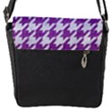 HOUNDSTOOTH1 WHITE MARBLE & PURPLE DENIM Flap Covers (S)  View2