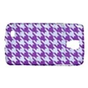 HOUNDSTOOTH1 WHITE MARBLE & PURPLE DENIM Galaxy S4 Active View1