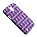 HOUNDSTOOTH1 WHITE MARBLE & PURPLE DENIM Galaxy S4 Active View5